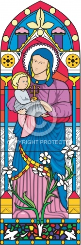 Stained Glass Window 01