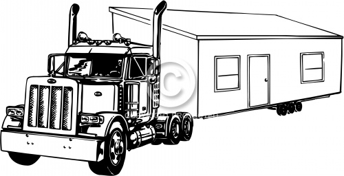 Truck with Mobile Home 01