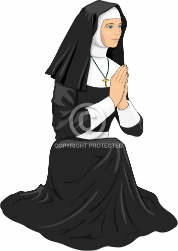 Nun Praying 01