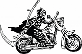 Grim Reaper on Motorcycle 01