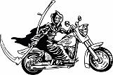 Grim Reaper on Motorcycle 01