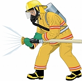 Firefighter Attacking Fire 01
