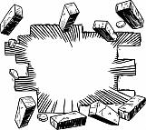 Bursting Brick Wall 01
