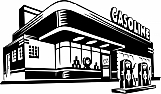 1950s Gas Station 01