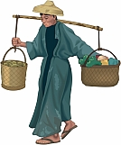 Man Carrying Baskets 01