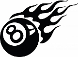 Flaming Eight Ball 01