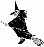 Witch on Broom 01