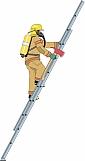 Firefighter Climbing Ladder 01